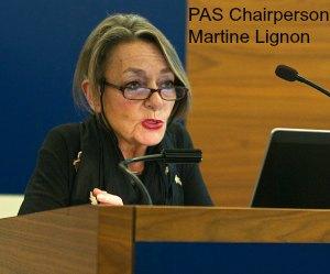 PAS Chairperson Martine Lignon